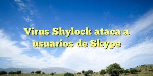 Virus Shylock ataca a usuarios de Skype